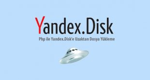 php yandex buluta dosya yükleme