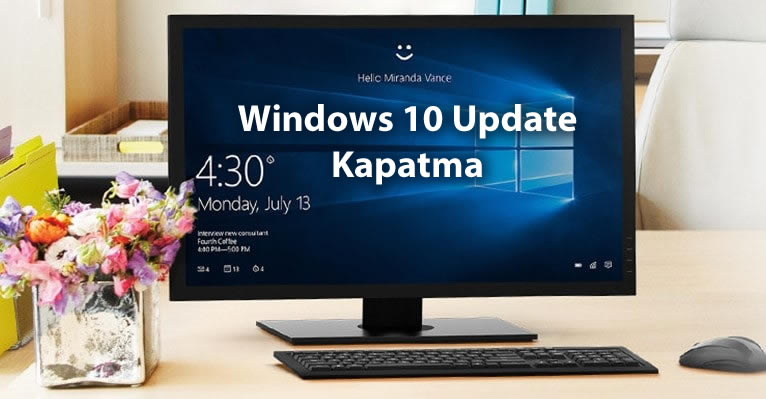 windows 10 update kapatma silme